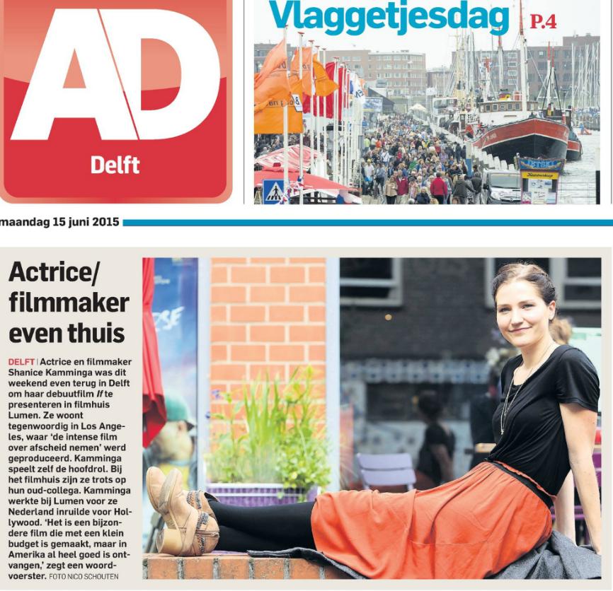 Algemeen Dagblad Delft shanice kamminga